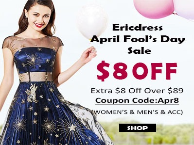 80% Off+ Free Shipping at EricDress